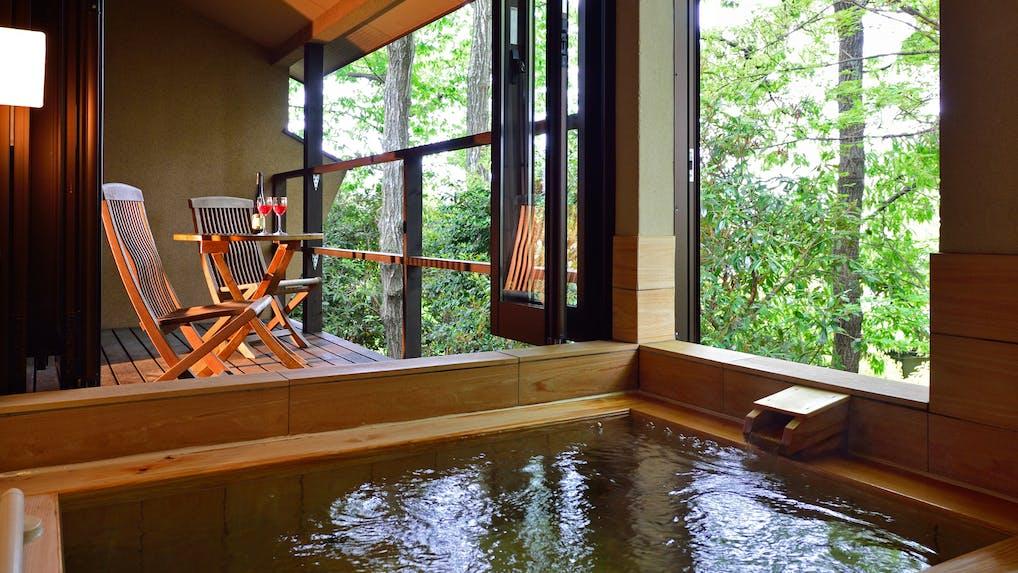東京から2時間で行ける10室以下客室露天風呂付の宿