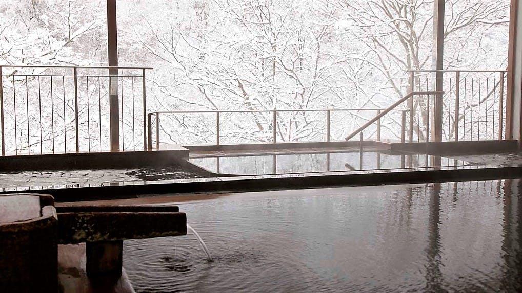 墨絵のような美景に心癒される信州の雪見宿