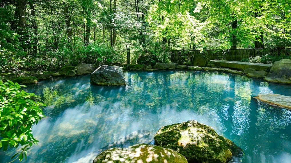 名物・大露天風呂でピュアな温泉を楽しむ