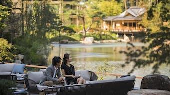 京都を感じながら歴史ある庭園に癒されるひととき