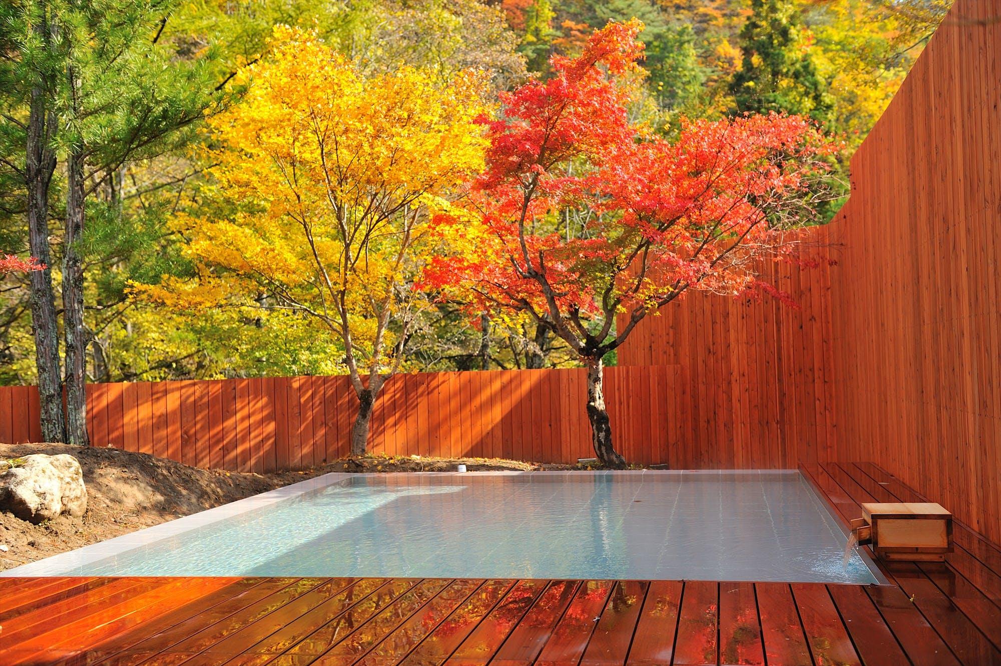露天風呂から紅葉が見える宿特集