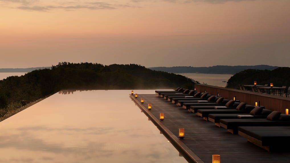 英虞湾に溶け込む、アマン初の温泉リゾート