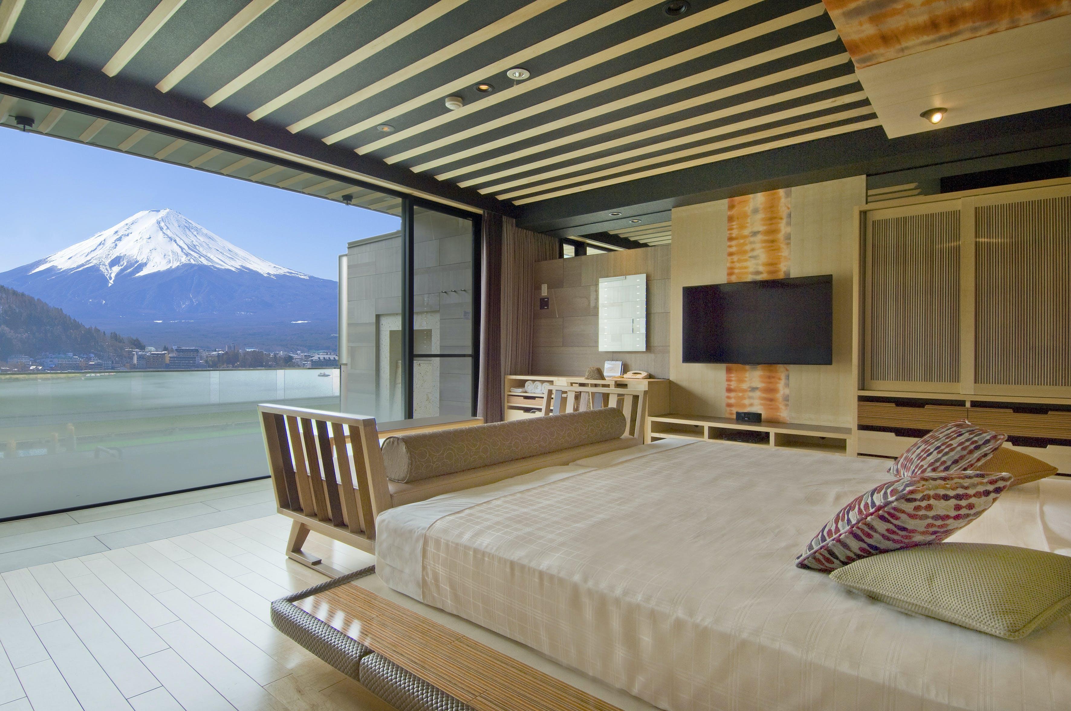 お部屋や露天風呂から富士山が見える宿5選