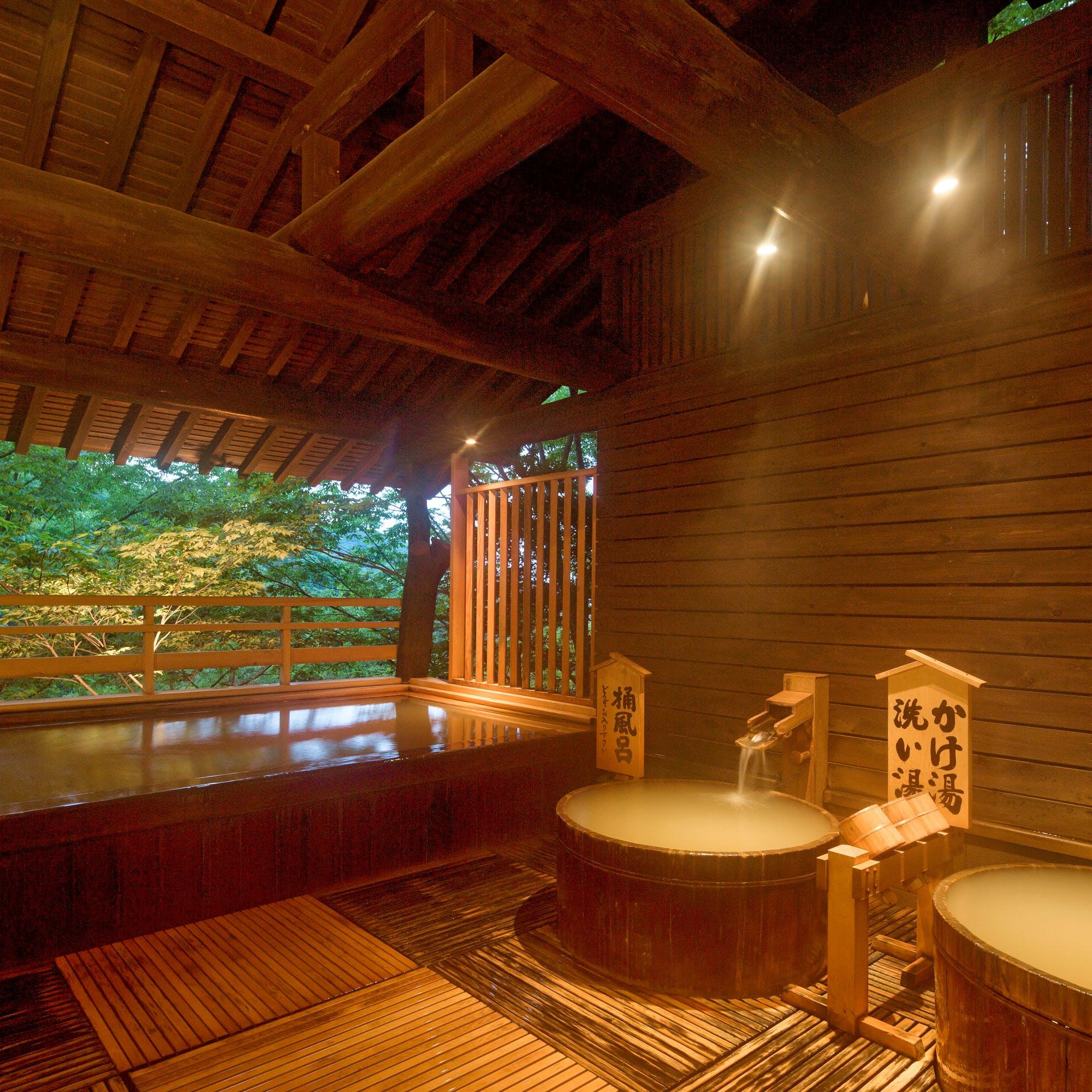 13か所の湯殿を備える老舗旅館