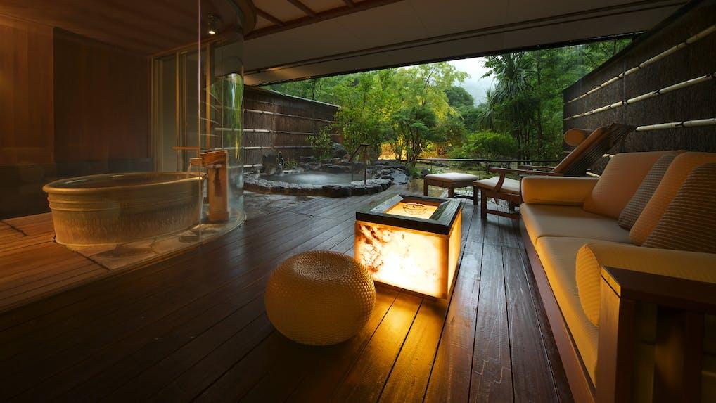 お部屋で内風呂も露天風呂も愉しめる箱根のおこもり宿