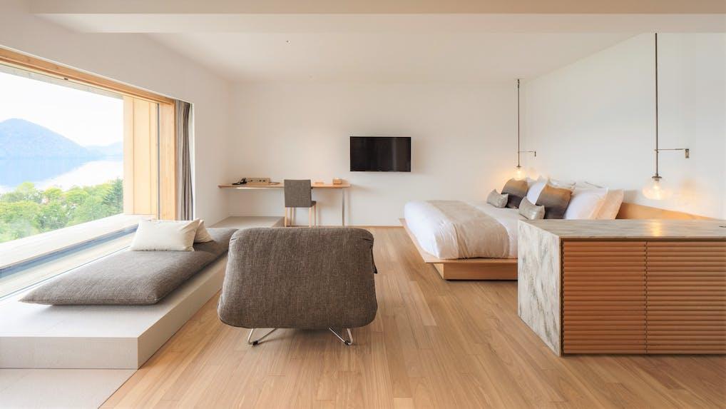 洞爺湖を一望する「自然」と「和」のデザイナーズホテル