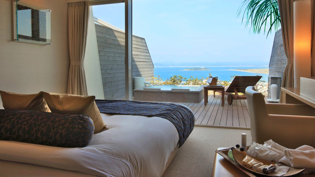 海が見える露天風呂付客室がある宿特集