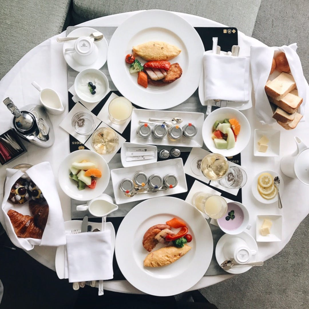 インルームで心置きなく楽しむ朝食
