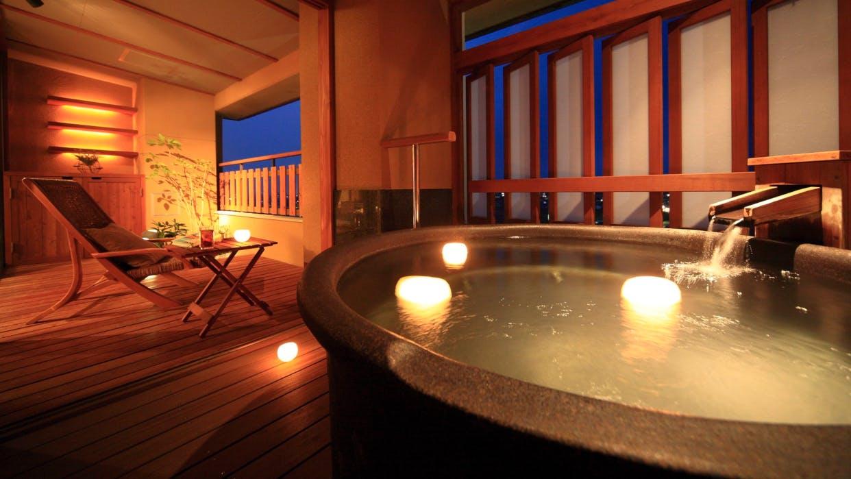 お部屋で内風呂も露天風呂も愉しめる北陸のおこもり宿