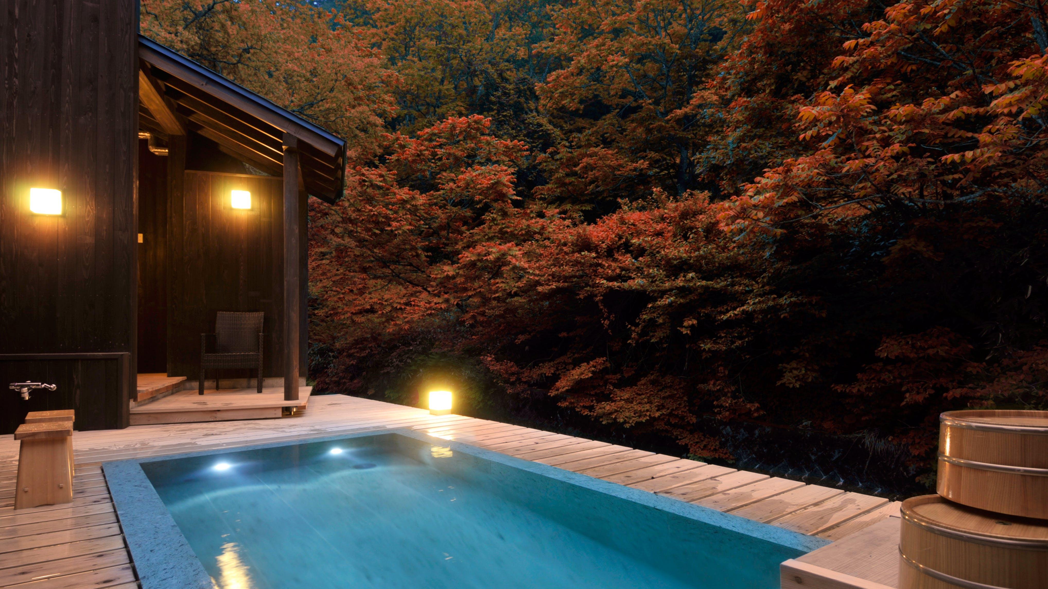 渓流沿いの露天風呂で紅葉が愉しめる宿 東日本編