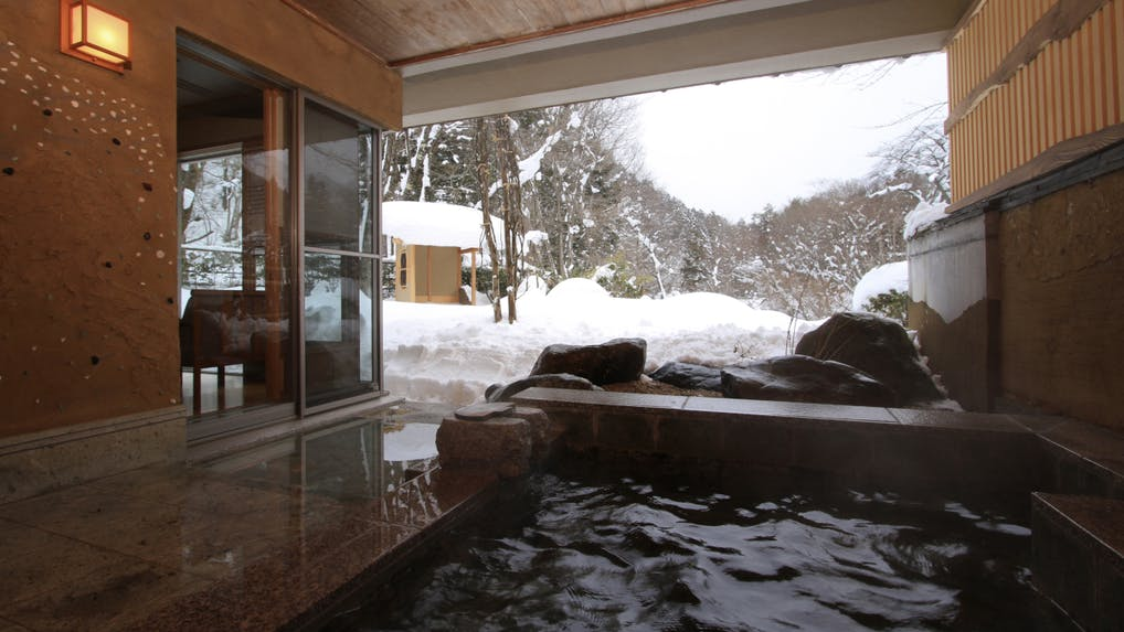客室露天風呂で雪見温泉が愉しめる宿4選 北関東編