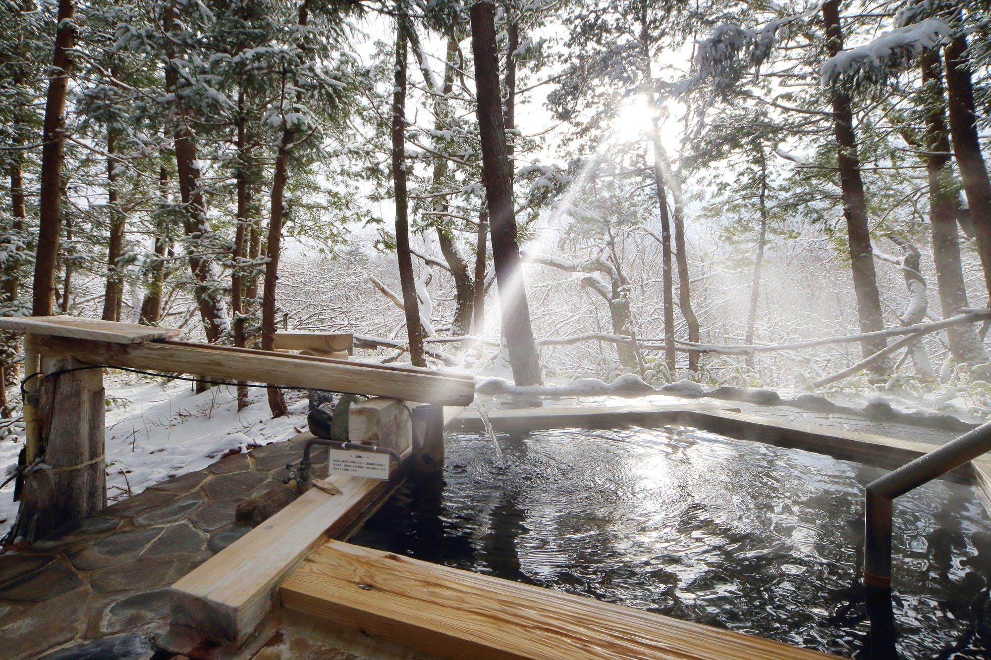 客室露天風呂で雪見温泉が愉しめる宿(東北・北関東編)