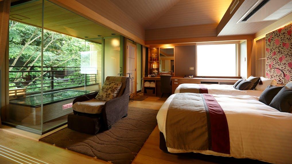 箱根湯本で10種の湯めぐりができる自家源泉の宿