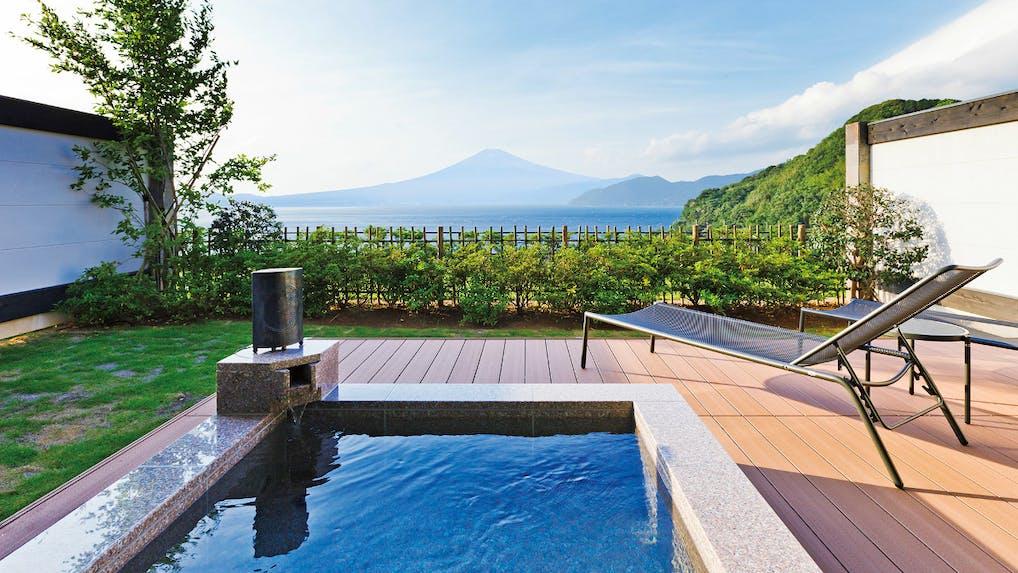富士山を望む露天風呂付客室がある温泉宿 静岡編
