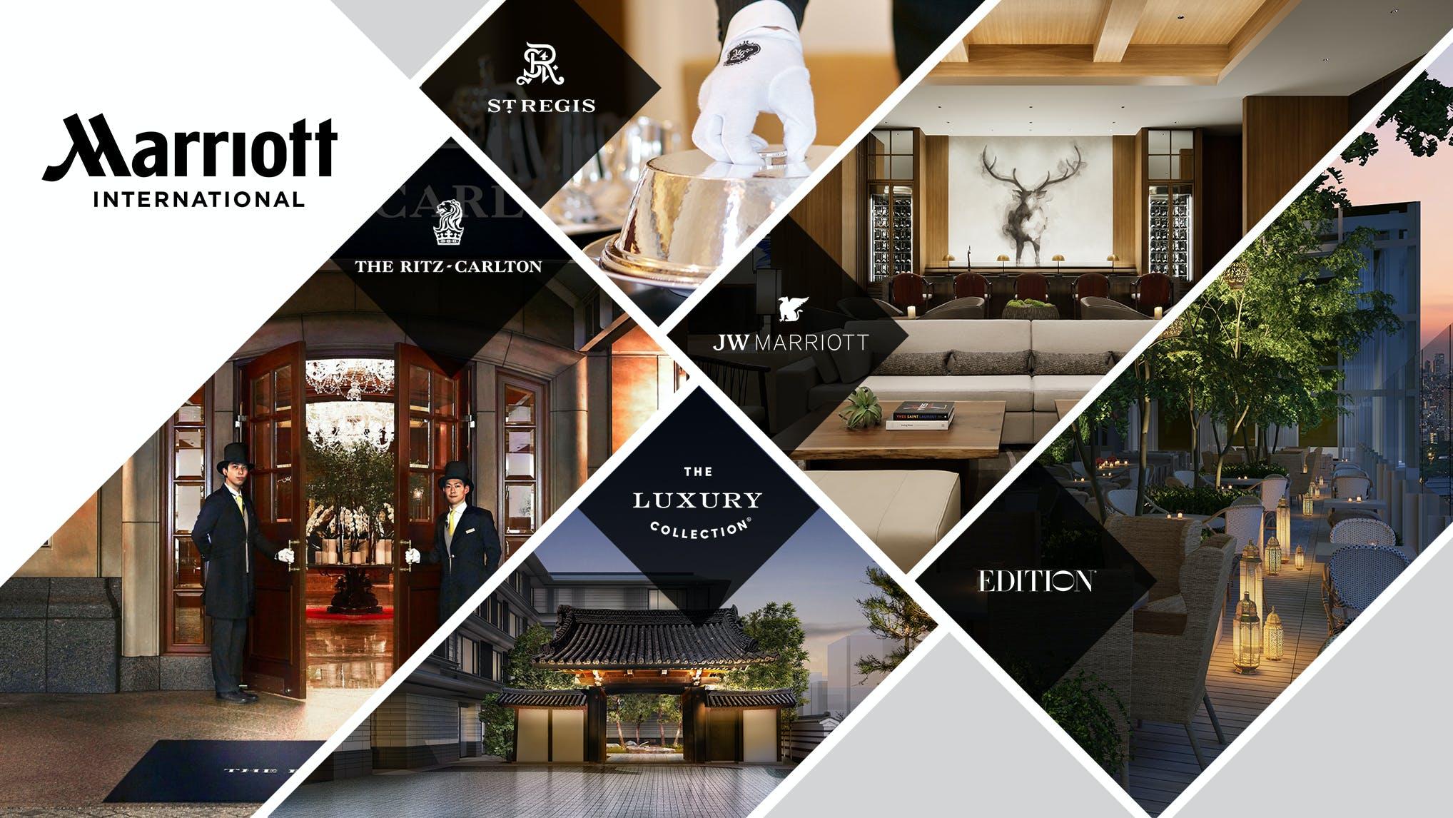 ラグジュアリーホテルチェーン「マリオット・インターナショナル」  のハイグレードな5ブランド特集