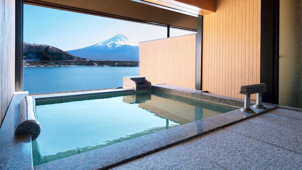 富士山が見える露天風呂付客室がある温泉宿特集