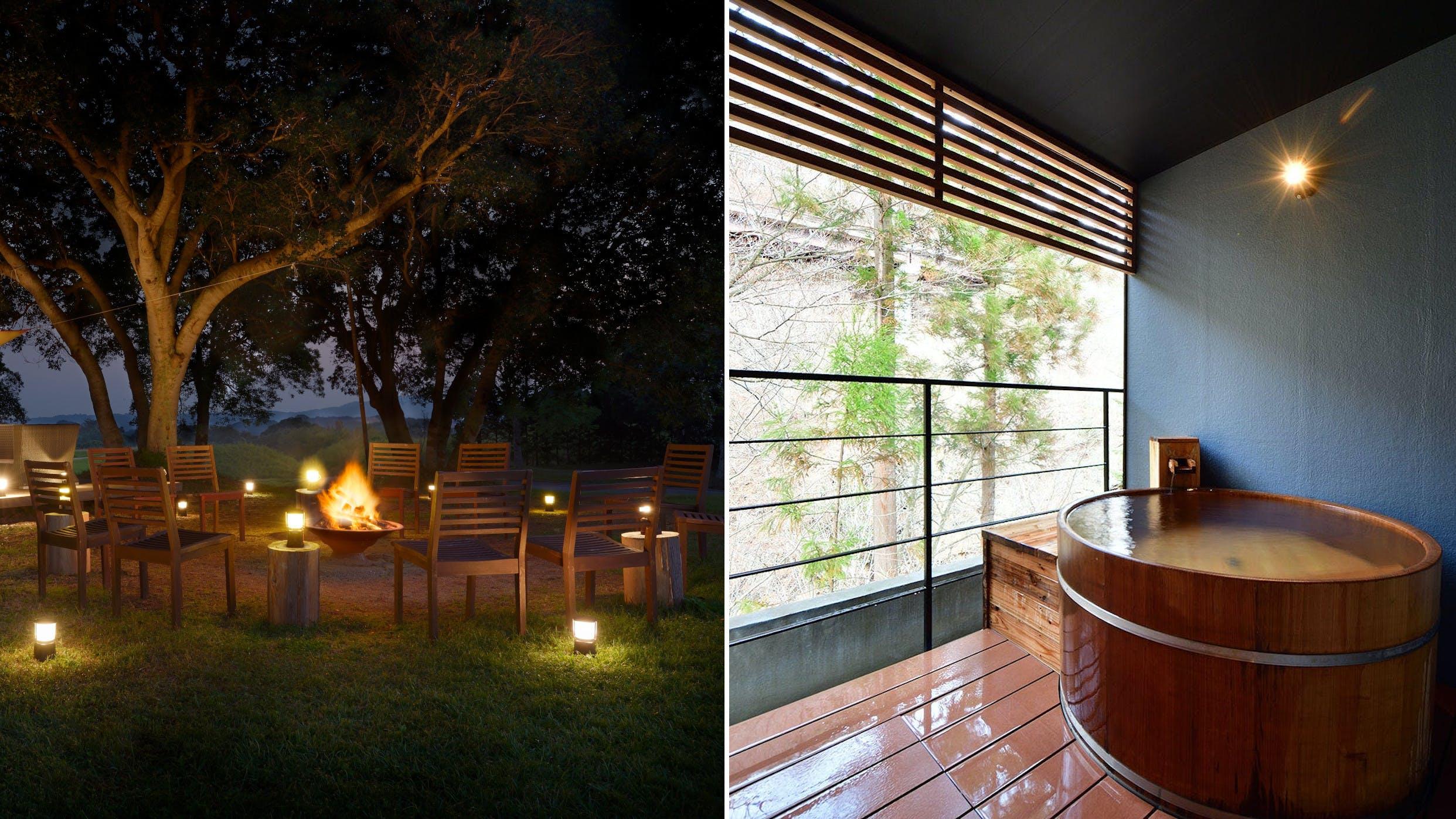 温泉や露天風呂が楽しめるグランピング施設4選